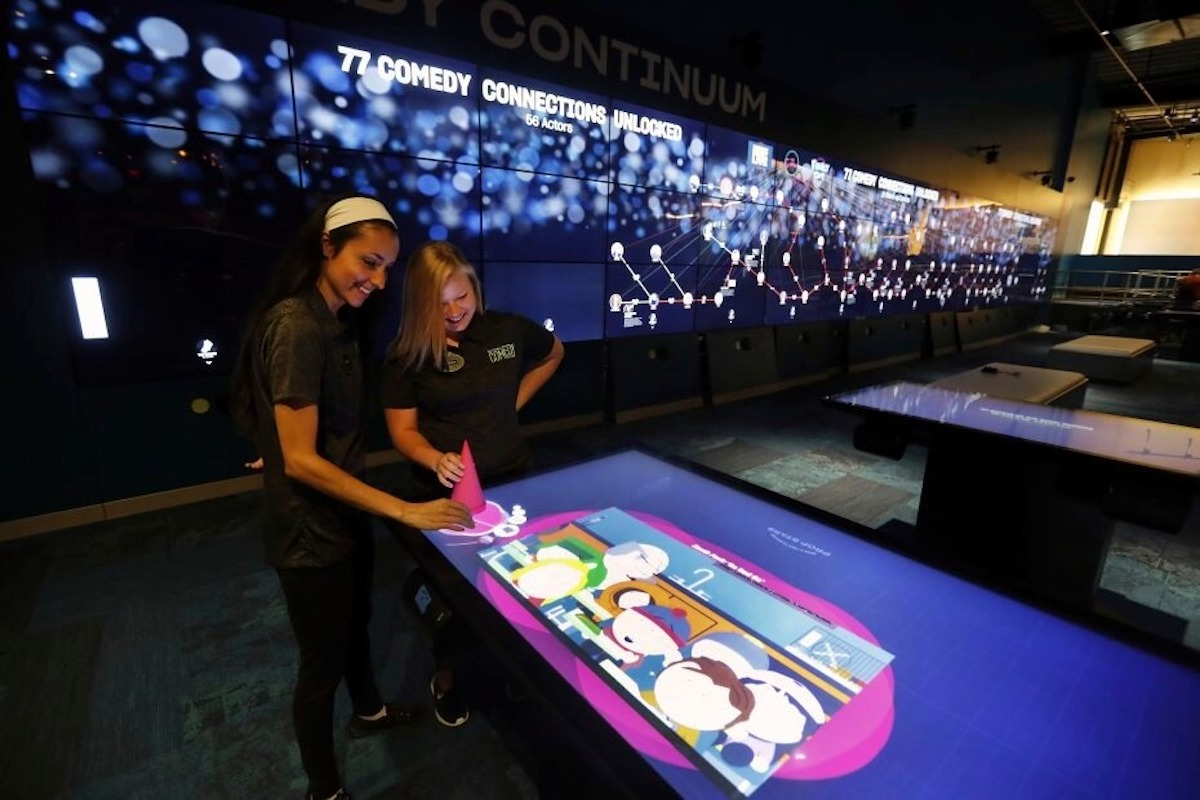 Interactive tables are a great way to get patrons involved in an exhibit.